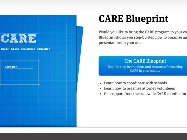 Care Blueprint Screenshot